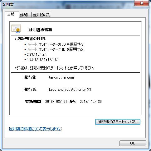 Let's Encryptの証明書