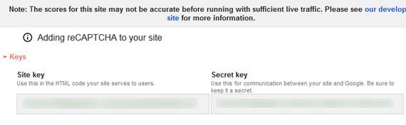 グーグル、reCAPTCHA v3のキー取得